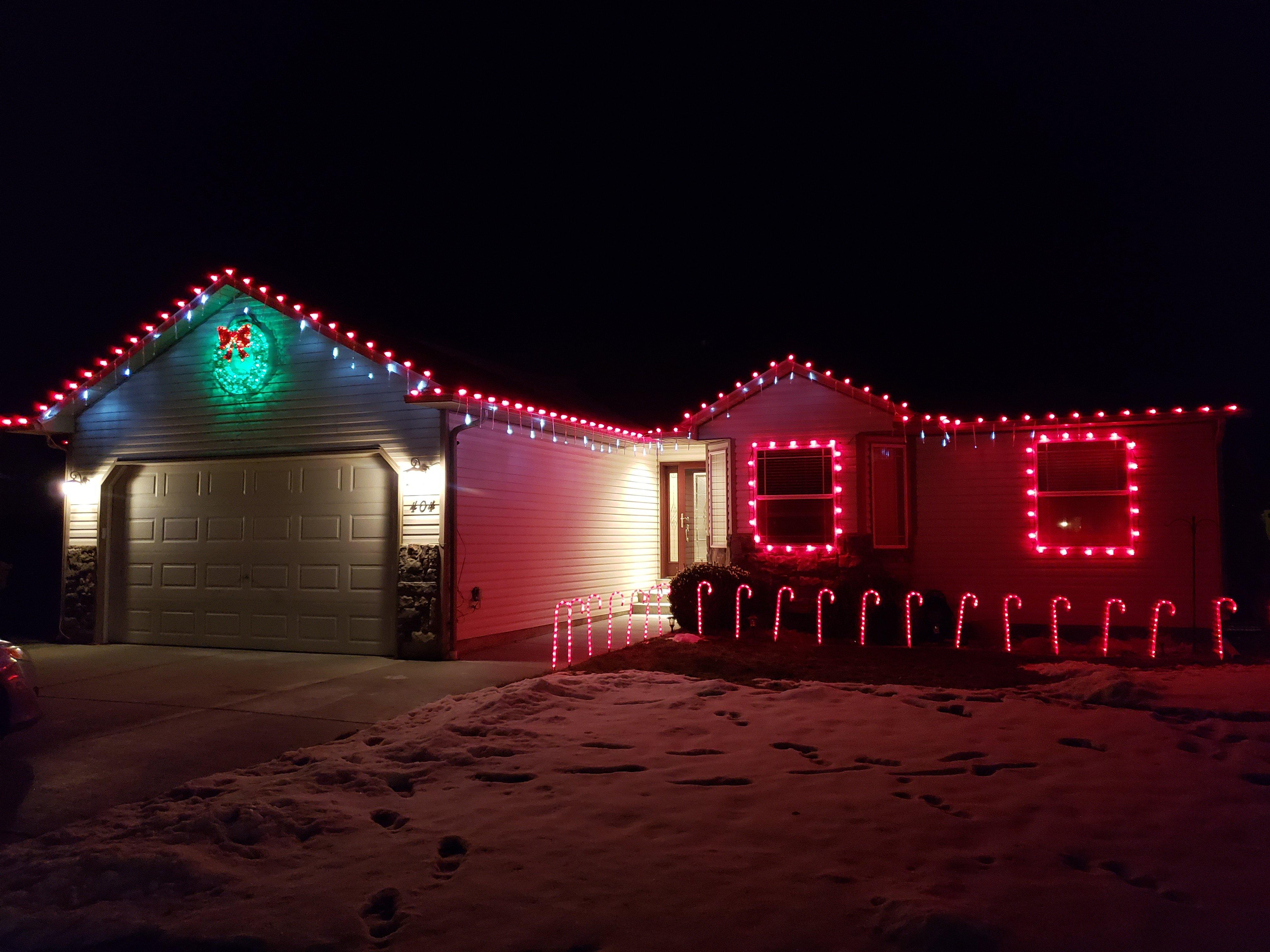 Chubbuck Christmas lighting