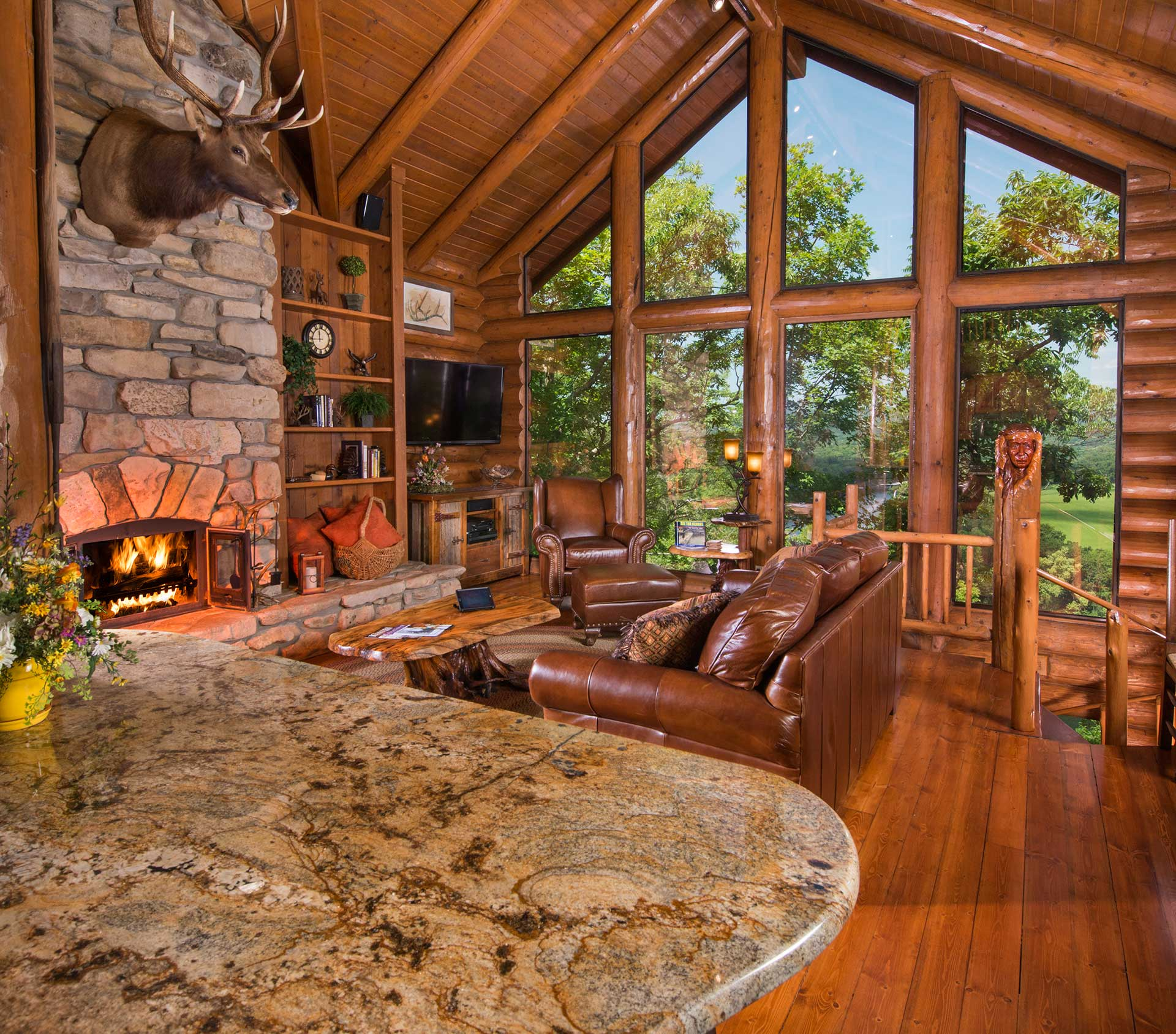 log-cabin-living-room - Pocatello Window Tinting | Southeast ...